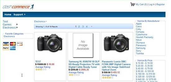 dashCommerce - free ASP.NET Shopping Cart