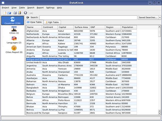 DataKiosk - juK-like database interface tool
