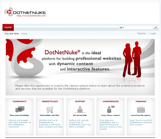 DotNetNuke - application development framework and Web CMS for ASP.NET