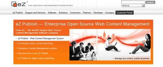 eZ Publish Web CMS