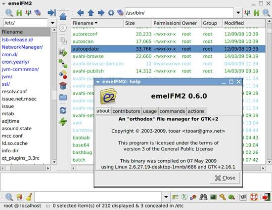 emelFM2 10 Best Free Linux File Managers