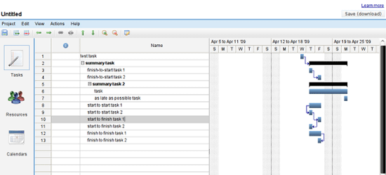 Gantter - Web based project scheduling tool