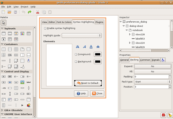 Glade - A User Interface Designer for GTK+ and GNOME