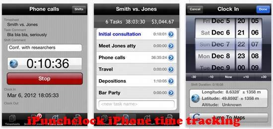iPunchclock 8 best iPhone Apps for Tracking Time on Projects