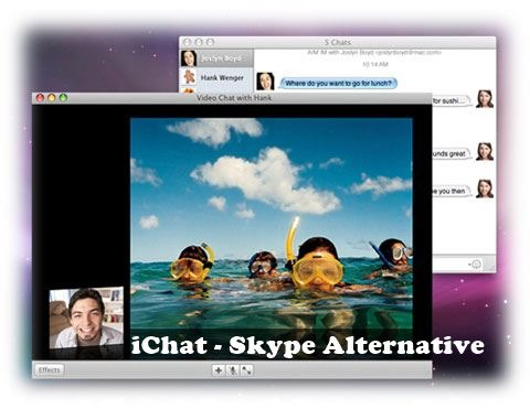 skype alternative - iChat