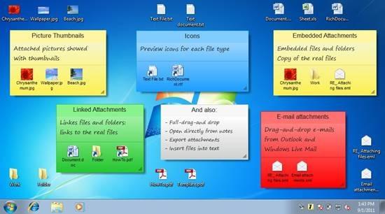 7 Sticky Notes \u2013 Windows 7 style Virtual Sticky Notes For Desktop