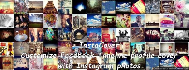 InstaCover - Customize Facebook Timeline profile cover with Instagram photos
