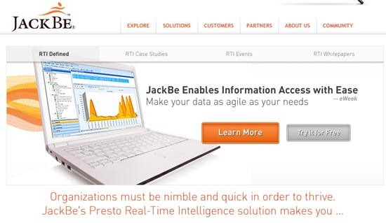 jackbe - Real-Time business Intelligence Solution