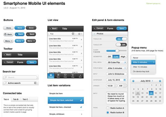 jquery-mobile-smartphone UI element