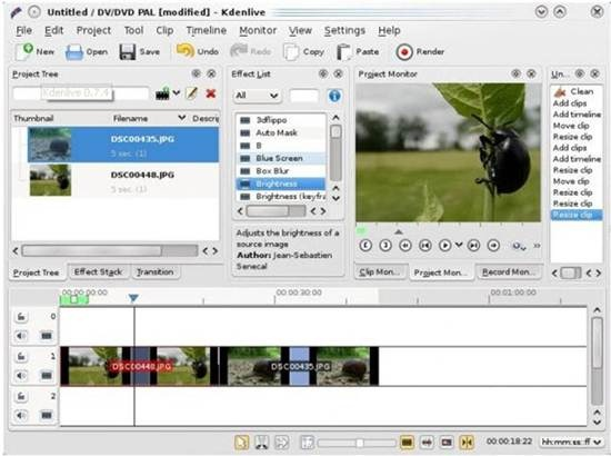 Kdenlive - open-source video editor for GNU/Linux