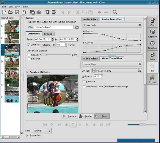 kino-GTK-gnome-based-non-linear-digital-video-editor