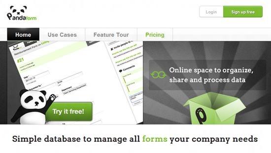 pandaform Top 13 online Form Building Apps