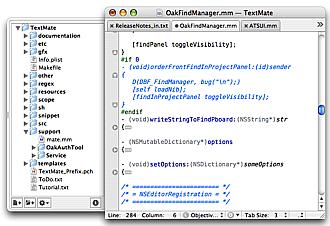 TextMate mac os x text editor