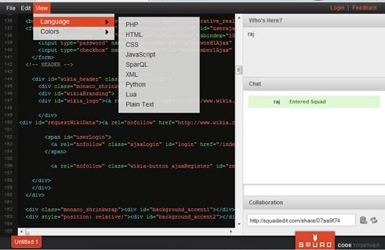 web-based Real time collaborative code editor - Squad