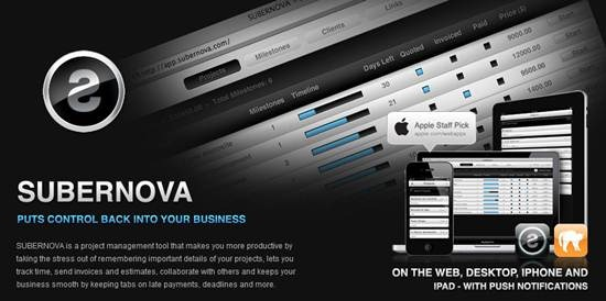 SUBERNOVA - online project management and invoicing tool