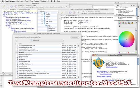 textwrangler mac os x text editor