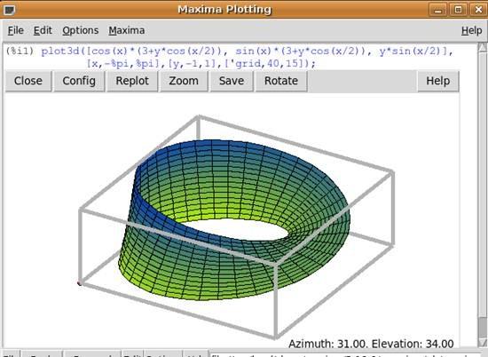 Maxima plotting tool