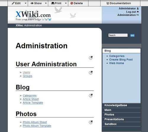 xwiki 17 open source wiki engine/software