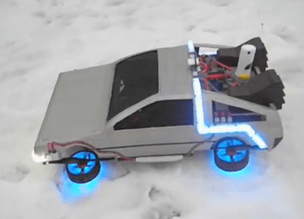 Back To The Future Flying Delorean The Coolest Quadrotor Video