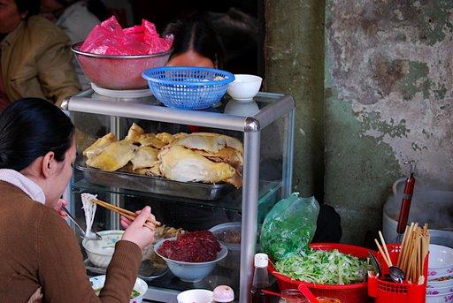 Fast food in Hanoi Market
