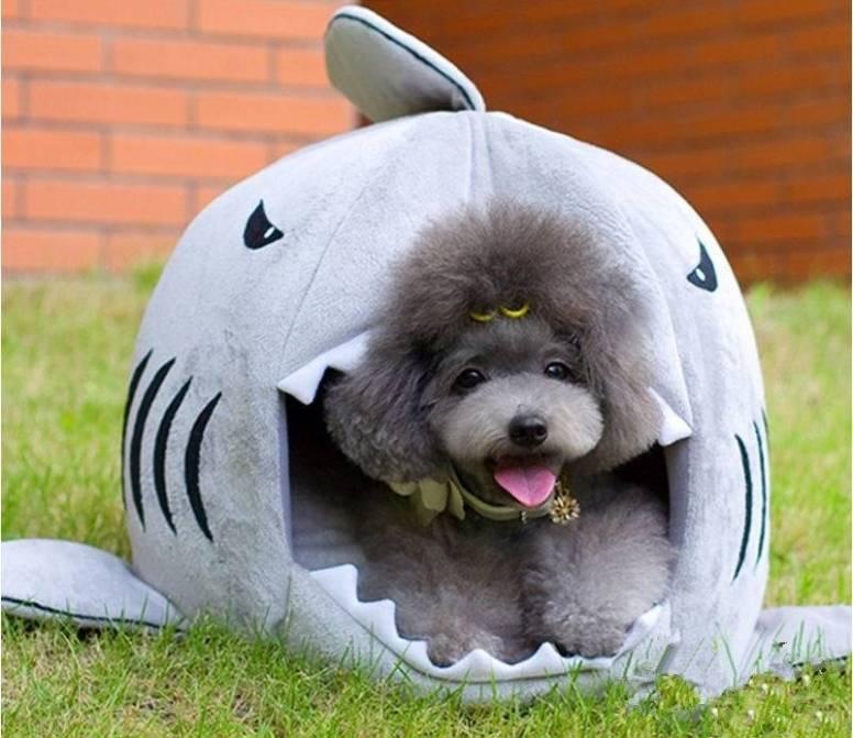 584a7c887aae004ee70adf09 2 larg Warm Shark Shaped Pet House