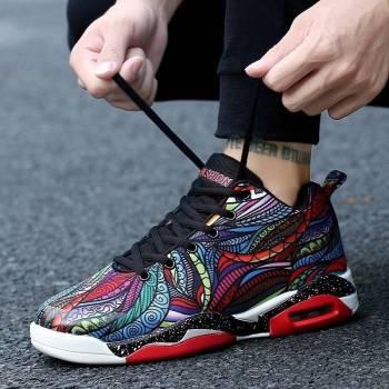 5c4a0494477b8716b3402f67 3 larg Men/ Women Air Cushion Basketball Shoes Running Tennis Shoes Fashion Sneaker