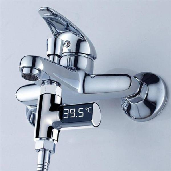 Water Temperature Meter for Baby Bath Care Baby Products Cool Gadgets Home Decor color: Silver