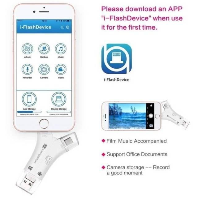 iPhone/Micro Usb/USB Type-c/USB SD Card Reader