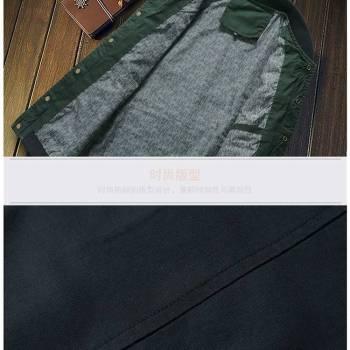 5bbef605606c1316d543f1f9 6 larg New Autumn Fashion Men Casual Slim Fit Zipper Jacket
