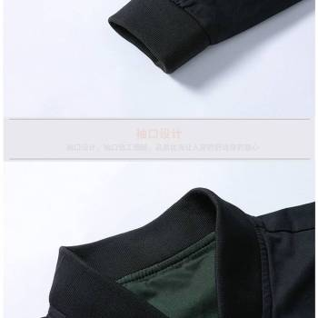 5bbef605606c1316d543f1f9 7 larg New Autumn Fashion Men Casual Slim Fit Zipper Jacket