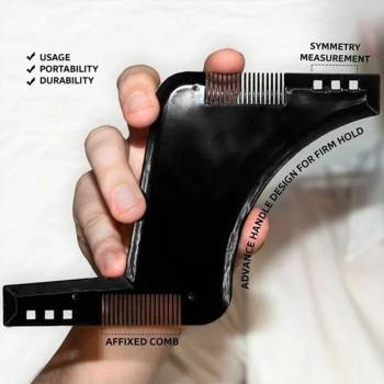 5c6a72344979b12c736f090b 2 larg Men Beard Shaping Tool with Inbuilt Comb for Perfect Line Up