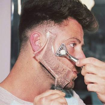 5c6a72344979b12c736f090b 3 larg Men Beard Shaping Tool with Inbuilt Comb for Perfect Line Up