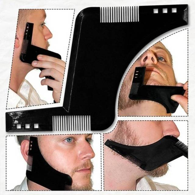 Men Beard Shaping Tool with Inbuilt Comb for Perfect Line Up