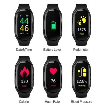 5dbbc62065999b09ed22860b 4 larg 2 in 1 Sports  Smart Watch with Earbud IOS + Android