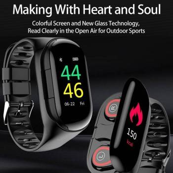 5dbbc62065999b09ed22860b 5 larg 2 in 1 Sports  Smart Watch with Earbud IOS + Android
