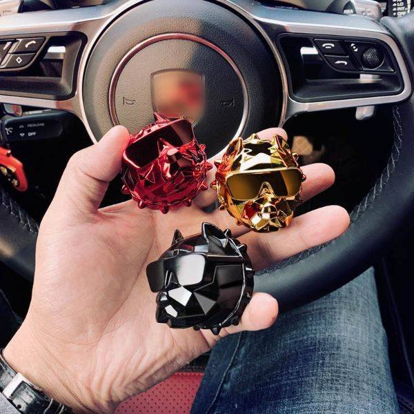 Cool Bulldog Car Air Freshener Car Gadgets Cool Gadgets size: 24 k gold|Bright black|Bright silver|Brilliant red|Matte black|Rose gold