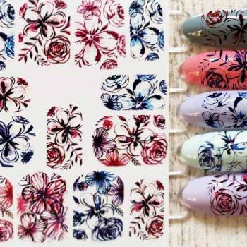 Ha316026693da499782dda954df1c7ad2A 3D Acrylic Art Engraved  Nail Sticker