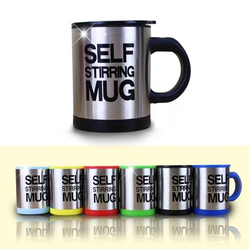 400ml Automatic Self Stirring Mug Coffee Milk Mixing Mug Stainless Steel Thermal Cup Electric Lazy Double 8 Unique Christmas Gifts for Dad Who Wants Nothing