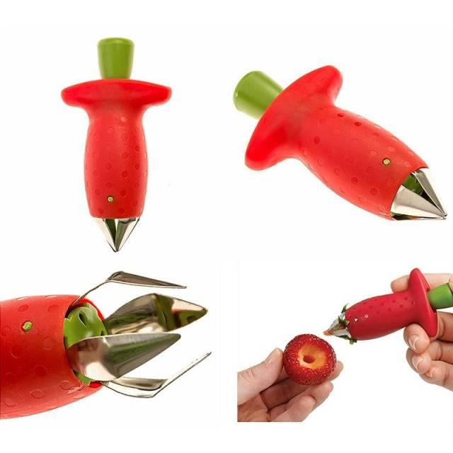 Strawberry Stem Huller Fruit Leaf Remover Gadget
