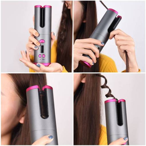 Cordless Automatic Hair Curler iron wireless Curling Iron USB Rechargeable Air Curler for Curls Waves LCD 10 Awesome Gifts for Tech Lovers