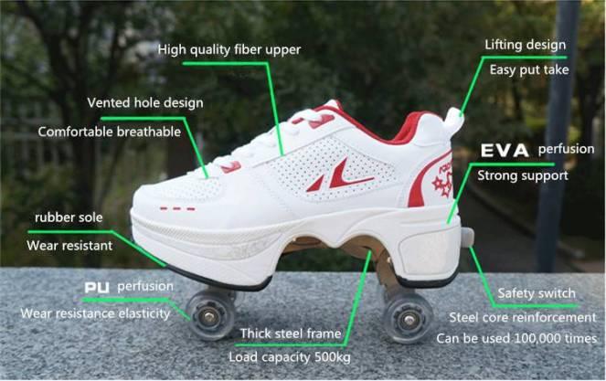 Turn Your Shoe Into Skate - Skateshoe