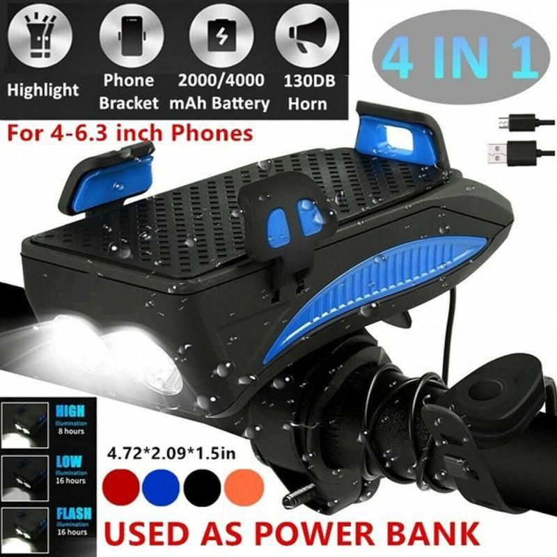 H8ad4e4d445ec49a0a8f99602708ec8d4v Multi-function Bicycle Light phone holder + flashlight +power bank