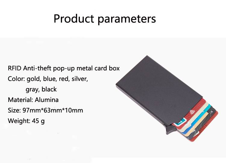 Automatic Pop-Up Anti-Theft Card Holder