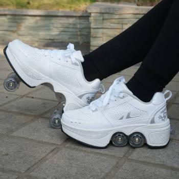 Hot Shoes Casual Sneakers Walk Skates Deform Wheel Skates for Adult Men Women Unisex Couple Childred 3 Turn Your Shoe Into Skate - Skateshoe