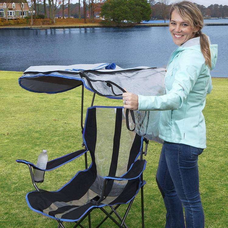 this genius canopy chair with a screen protects you from the sun and mosquitoes 4919 Awesome Canopy Chair With Mosquito Protector