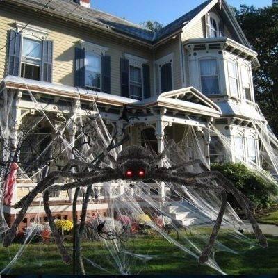 H3b5a09e6c7c145bfbbd9887d940aed6cs Scarry Black Spider Halloween Decoration