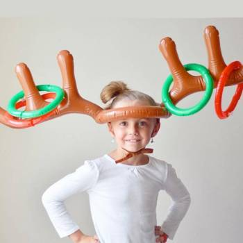23965 15f192 Christmas Party Inflatable Reindeer Game