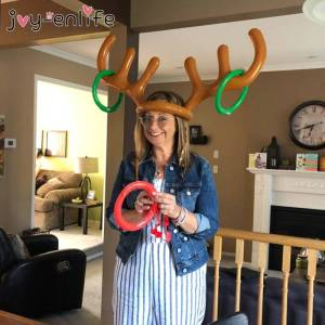 23965 gbfwhx Christmas Party Inflatable Reindeer Game