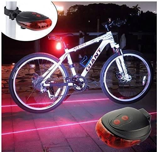 Red Safety Tail light Bike Lasers Lights