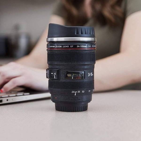 Black Camera Lens Beer Mug Gadkit